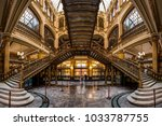 an interior view of the postal... | Shutterstock . vector #1033787755