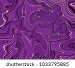 vector violet and gold marble... | Shutterstock .eps vector #1033795885