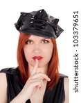 young pretty police woman... | Shutterstock . vector #103379651