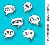 retro comic speech bubbles... | Shutterstock .eps vector #1033798987