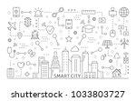 smart city icons set. line art...   Shutterstock .eps vector #1033803727