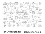 industrial internet of things... | Shutterstock .eps vector #1033807111