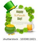 Saint Patricks Day Card With...