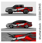 abstract racing graphic kit... | Shutterstock .eps vector #1033813945