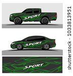 abstract racing graphic kit... | Shutterstock .eps vector #1033813951