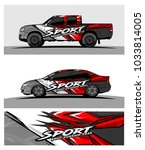 abstract racing graphic kit... | Shutterstock .eps vector #1033814005
