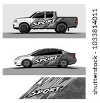 abstract racing graphic kit... | Shutterstock .eps vector #1033814011