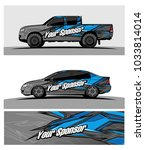 abstract racing graphic kit... | Shutterstock .eps vector #1033814014