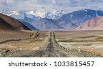 beautiful view of pamir highway ... | Shutterstock . vector #1033815457