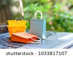 online shopping and ecommerce... | Shutterstock . vector #1033817107