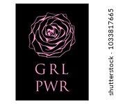 girl power slogan on black... | Shutterstock .eps vector #1033817665