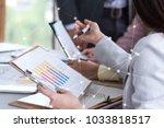 business woman and man... | Shutterstock . vector #1033818517