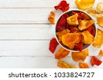 bowl of mixed healthy vegetable ... | Shutterstock . vector #1033824727