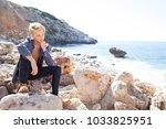 beautiful young man visiting... | Shutterstock . vector #1033825951