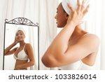 portrait of beautiful african... | Shutterstock . vector #1033826014