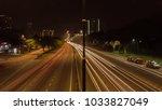 highway light trail | Shutterstock . vector #1033827049
