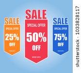 sale paper banner  special... | Shutterstock .eps vector #1033828117