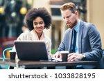 business people using laptop... | Shutterstock . vector #1033828195