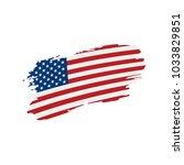 usa flag isolated | Shutterstock .eps vector #1033829851