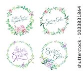 watercolor hand drawn floral... | Shutterstock . vector #1033831864
