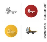 tow truck icon. flat design ... | Shutterstock .eps vector #1033831909