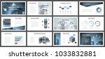 business presentation templates.... | Shutterstock .eps vector #1033832881