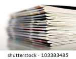 stacked magazines | Shutterstock . vector #103383485