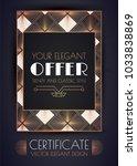 elegant vintage card  flyer ... | Shutterstock .eps vector #1033838869
