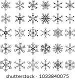 snowflake crystal element... | Shutterstock .eps vector #1033840075