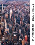 new york aerial view of midtown ...   Shutterstock . vector #1033845121
