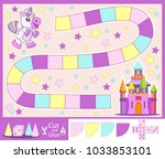 kids fabulous board game with... | Shutterstock .eps vector #1033853101