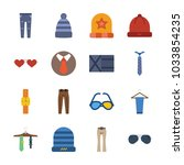 icon man accessories with...   Shutterstock .eps vector #1033854235