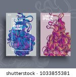 abstract poster templates.... | Shutterstock .eps vector #1033855381