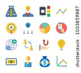 icon marketing with network ... | Shutterstock .eps vector #1033859887
