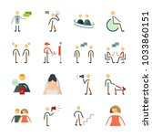 icon human with male ... | Shutterstock .eps vector #1033860151