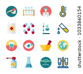 icon medical with pill  test... | Shutterstock .eps vector #1033860154