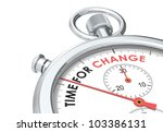 Time For Change. Stopwatch...
