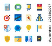 icon business with flag  idea ... | Shutterstock .eps vector #1033863037