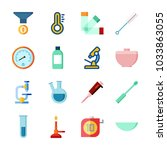 icon laboratory with condenser  ... | Shutterstock .eps vector #1033863055