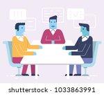 vector linear flat illustration ... | Shutterstock .eps vector #1033863991