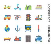 icon transportation with cruise ... | Shutterstock .eps vector #1033866004