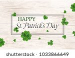 happy st. patrick's day. st... | Shutterstock . vector #1033866649