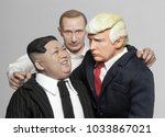 Small photo of FEB 25 2018: Caricatures of US President Donald Trump, Russian President Vladimir Putin and North Korean Supreme Leader Kim Jong Un grouped together