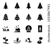 solid vector icon set  ... | Shutterstock .eps vector #1033867981