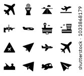 solid vector icon set   plane... | Shutterstock .eps vector #1033868179