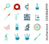icon laboratory with flask ... | Shutterstock .eps vector #1033868959