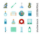 icon laboratory with gas jar ... | Shutterstock .eps vector #1033869061