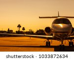 Luxury Private Jet Is Parked O...