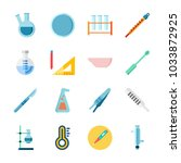 icon laboratory with measuring  ... | Shutterstock .eps vector #1033872925