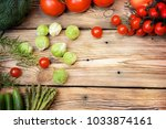 composition with fresh... | Shutterstock . vector #1033874161